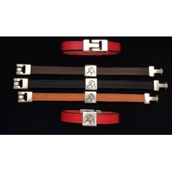 Bull leather bracelet