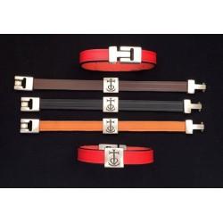 Bracelet cuir motif croix de Camargue