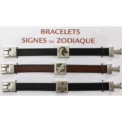 Cross Camargue leather bracelet