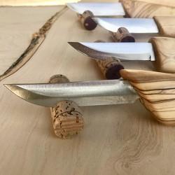 Couteau à viande lame carbone